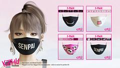 Asian style face masks / medical masks (K•Zhu Fashion) Tags: secondlife second life fashion asian kawaii clothes urban facemask medicalmask tonic maitreya belleza slink classicavatars meshavatars