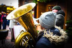 Musiker auf dem Weihnachtsmarkt (jörg_grontzki) Tags: 28mm niedersachsen germany deutschland stadtleben reisen reise travel travelpics xmas hannover tuba musiker music street leicaq weihnachtsmarkt