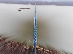 "Aerial Shot of the Irvin S. Cobb ""Brookport "" Bridge in Paducah, KY (adl1056) Tags: aerialbridge brookportbridge paducahkentucky aerial"