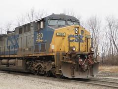 CSX 280 (rkilpatrick) Tags: olneyil locomotive diesel generalelectric ge csxrailroad csxtransportation csx