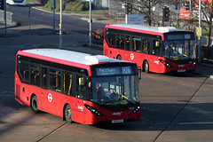 SN66 WLE, Southern Perimeter Road, London Heathrow, February 24th 2019 (Southsea_Matt) Tags: sn66wle 8157 routeh26 abellio enviro200 mmc e200 adl alexanderdennis hattoncross greaterlondon england unitedkingdom february 2019 winter canon 80d bus omnibus vehicle transport
