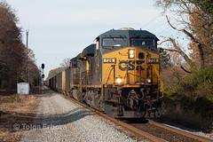 Inbound (TolgaEastCoast) Tags: csx train t105 newport news virginia coal cw44ac es44ah railroad railway