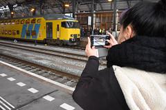 Railfan getting pictures of DDM at Haarlem, December 15, 2019 (cklx) Tags: 1768 ddm1 dubbeldekkers dubbeldekker bilevelcars excursion nvbs 1700 ns nederlandse spoorwegen