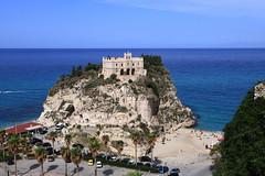 The Sanctuary of Santa Maria dell'Isola (annalisabianchetti) Tags: santuario sanctuary calabria tropea seascape sea mare travel paesaggio landscape beautiful italy