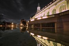 Palais Beaumont, dark night (J. Borruel) Tags: nuit reflexion eau bassin pau bâtiment palais pyrénées béarn france reflet mirroir