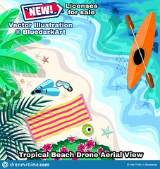 NEW! 🌴 #Tropical #Beach #Aerial #Drone #View #Snorkeling and #Kayak #Elements #Vector #illustration 🌴 #Design © #BluedarkArt #theChameleonArt 👉 http://bit.ly/38GAjgx 🌴 (BluedarkArt) Tags: kayak aerial tropical drone elements view bluedarkart design beach snorkeling illustration vector thechameleonart