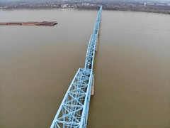 "Aerial Shot of the Irvin S. Cobb ""Brookport "" Bridge in Paducah, KY (adl1056) Tags: paducahkentucky brookportbridge aerialbridge aerial"