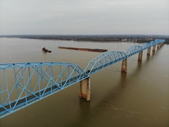 "Aerial Shot of the Irvin S. Cobb ""Brookport "" Bridge in Paducah, KY (adl1056) Tags: aerialbridge aerial brookportbridge paducahkentucky"