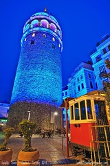 Istanbul Blues (Sam Antonio Photography) Tags: tower turkey architecture istanbul galata city travel old cityscape europe tourism tourist history sky town urban culture ottoman structure landmark european ancient historical turkish constantinople stone genoese buildings building exterior beyoglu destination blue evening angle destinations upward perspective famous byzantine beautiful medieval illumination colour galatatower