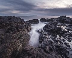 Tower Bay Beach, Portrane, Ireland (darkmavis) Tags: ireland irish irishsea landscape longexposure nature portrane sea seascape seaside sunset travel waves donabate countydublin