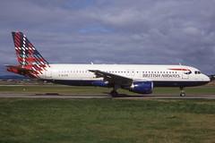 G-BUSE Glasgow 27-8-1998 (Plane Buddy) Tags: gbuse a320 ba worldimages benyhone glasgow