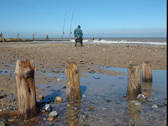 Waiting for a bite (john from Canterbury) Tags: seascape fishing mundesley norfolk