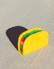 taco pinata (willmilne) Tags: taco tacos shadow shadows minimal colorpop pinata mexico mexican