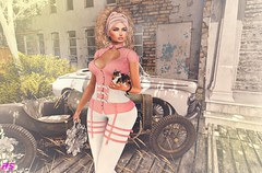 Afternoon Walk With My Kitten (alexandra sunny) Tags: nomatch haveunequal mybagsbymila kokoroposes ebentoevent vanityevent catwa maitreya aviglam secondlfe blog blogger fashion female woman landscape pink kitten pose event