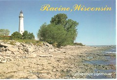 Wisconsin - Wind Point Lighthouse - TO TRADE (bdsuss) Tags: wisconsin lighthouse postcard