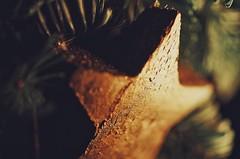Star of Wonder (orbed) Tags: macromonday handmade star christmas wreath fir wood gold texture rustic