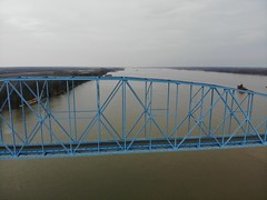 "Aerial Shot of the Irvin S. Cobb ""Brookport "" Bridge in Paducah, KY (adl1056) Tags: paducahkentucky aerialbridge brookportbridge aerial"
