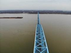 "Aerial Shot of the Irvin S. Cobb ""Brookport "" Bridge in Paducah, KY (adl1056) Tags: aerialbridge paducahkentucky brookportbridge aerial"