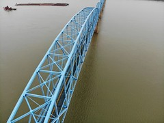 "Aerial Shot of the Irvin S. Cobb ""Brookport "" Bridge in Paducah, KY (adl1056) Tags: aerialbridge aerial paducahkentucky brookportbridge"