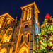 San Fernando Cathedral with a Christmas Tree