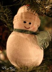 Handmade Snowman.... (angelakanner) Tags: canon70d velvet56 lensbaby manualfocus ornament christmas snowman handmade