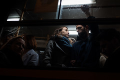 Look of Love (Ktoine) Tags: light transport budapest hungary street tram people love couple