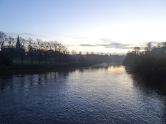 River Dee at dusk, 2019 Nov 30 (Dunnock_D) Tags: britain cheshire chester dee edgarsfield england gb handbridge uk unitedkingdom blue dusk lateafternoon river sky trees twilight