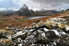 Mighty Tryfan (PentlandPirate of the North) Tags: tryfan snowdonia mountain lake snow ice northwales winter