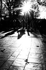 WINTER IS SHINING 1/2  Serie : Shadows  Fuji XT-1 Lens : Fujinon 27mm f2.8 (jcm.streetphoto) Tags: blackandwhite silhouette shadow spicollective streetcaptures streetphotography streetlife