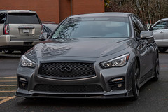 Infiniti Q50 (mlokren) Tags: 2019 car spotting photo photography photos pic picture pics pictures pacific northwest pnw pacnw oregon usa vehicle vehicles vehicular automobile automobiles automotive transportation outdoor outdoors renault nissan infiniti q50 sedan gray