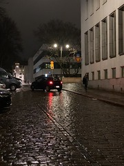 Helsinki Side Street at Night