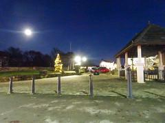 Market Place, Standish, 2019 Dec 09 (Dunnock_D) Tags: britain england gb lancashire marketplace marketstreet uk unitedkingdom blue sky streetlights wigan standish