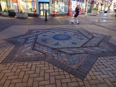 Paving at Chorley market, 2019 Dec 09 (Dunnock_D) Tags: britain chorley england gb lancashire uk unitedkingdom market mosaic paved shops star