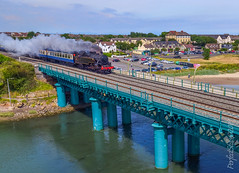 No 4 Heading for Balbriggan (PerfectStills) Tags: boyne drogheda olympus pro landscape skyshots ireland navan droneservices perfectstillscom dundalk viaduct aerial aubreymartin rail perfectstills heritage photography uav drone dji inspire1pro gimbal train steam trip meath laytown rpas birdseyeview pilot countymeath