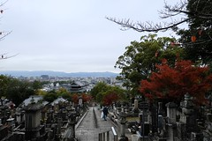 cemetery,city,sky (ababhastopographer) Tags: kyoto kurodani autumn morning konkaikōmyōji 京都 黒谷 金戒光明寺 秋 朝