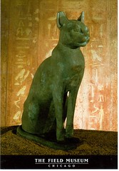 Postcrossing US-6430701 (booboo_babies) Tags: egypt cat bronze statue art ancient fieldmuseum chicago museum illinois postcrossing