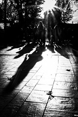 THE WINTER IS SHINING 2/2  Serie : Shadows  Fuji XT-1 Lens : Fujinon 27mm f2.8 (jcm.streetphoto) Tags: blackandwhite silhouette shadow streetcaptures streetphotography spicollective streetlife