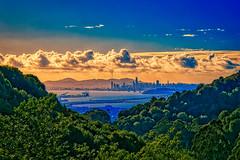San Francisco Bay from Claremont Hills (greensteves) Tags: claremonthills sanfranciscobay oakland sanfrancisco steve omd olympus clouds bay landscape eastbaybridge