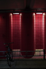 Red bicycle parking (Henry Söderlund) Tags: sigma2470mm28 sigma sigma2470 sample images test photos lowlight street helsinki finland bokeh sigma2470mm28art sharpness vignetting distortion sonyfe sonye sony