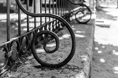 Curvas (Walimai.photo) Tags: fence verja valla curva metal curve nikon d7000 nikkor 35mm detail detalle blanco negro byn bw branco preto blanc noir black white street calle ledesma salamanca spain españa espiral