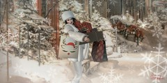 Last Minute Shopping! 🎅 (Spikie Chickie) Tags: secondlifephotography secondlife christmasshopping christmaspackages winter dowtownshopping maitreya catwa avenge foxcity poses plastix snow snowflakes