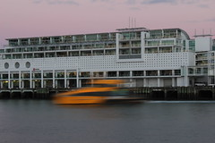 Ferry Arrival (neil.bather) Tags: ferry terminal dawn sunrise hotel seascape jetty wharf auckland new zealand