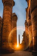 Morning Rays (Trent's Pics) Tags: karnaktemple ancient archeaology colonnade columns egypt egyptian flare karnak obelisk rays ruins spiritual sunburst sunrise sunstar temple