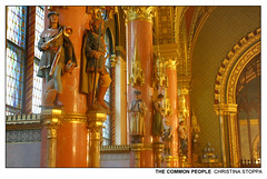 The Common People (Kurokami) Tags: budapest hungary hungarian parliament building government royalty king kings crown coronation regalia scepter sword common people gold golden statue statues model models gargoyle gargoyles europe 2019 travel history roots vacation pilgrimage memorial