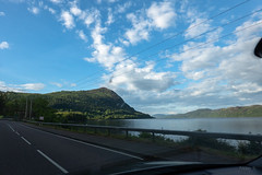 Driving Along the Loch (Jocey K) Tags: tripukeroupe2019 june uk scotland hills landscape sky clouds scene lake loch trees road highway evening lochness