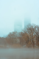 Morning in the Fens (fernrf) Tags: boston fog fenway fens backbay back bay morning