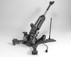 M777 Howitzer (2) (Lonnie.96) Tags: lego brick model scale grey light dark bley towed howitzer cannon artillery bae system m777 3 inspired usa united states america army usmc marine corp 2009 december 2005 current australia canada india