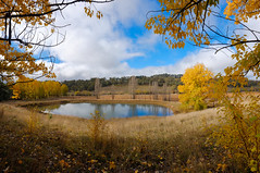 Autumn Panorama (Erich Schieber) Tags: panorama australia botany autumn cloud tree fall landscape dam