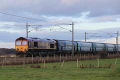 DB Cargo (EWS) 66093 Drax Biomass 15th December 2019 (1) (asdofdsa) Tags: railway fenwick doncaster southyorkshire trains fields sky levelcrossing drax biomass 66093 transport passengers