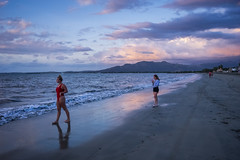 Evening at the beach (agasfer) Tags: 2019 fiji vitulevu pentax k3 sigma1020 beach sunset cloudsstormssunsetssunrises people sand sea sky clouds nadi wailoaloa